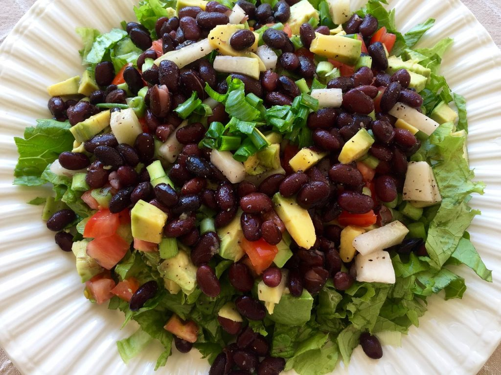 Bean salad - plant based diet