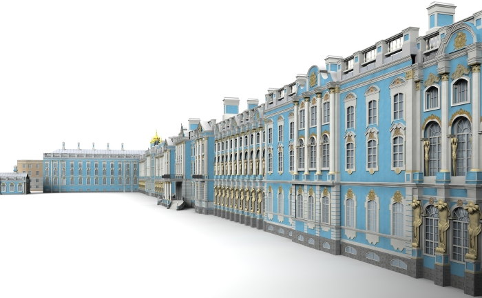 Memory palace with lots of rooms to remember objects